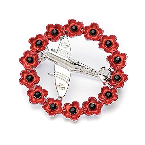 Femme Charite Don De Cadeau Remembrance Poppy Coquelicot Rouge Couronne Avec Spitfire Broche Bijoux Hotelaomori Co Jp