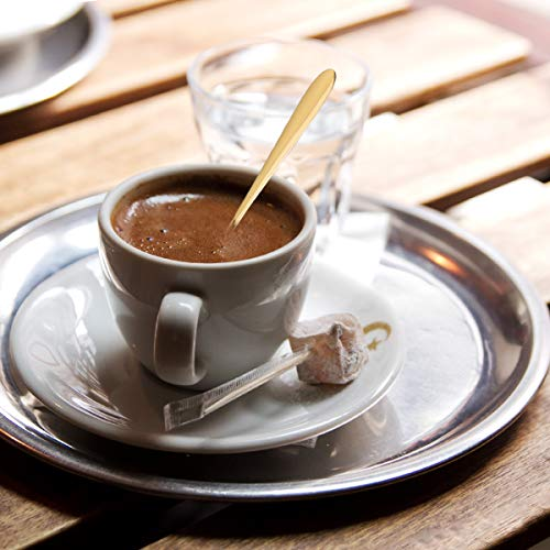 BESTONZON Cuchara de Acero Inoxidable para Mezclar, Cuchara Larga para té Helado, Cuchara de café y Postre (Titanio): Amazon.es: Hogar