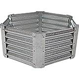 Sunnydaze Raised Garden Bed Kit, Galvanized Steel 40-Inch Hexagon, 16 Inches Deep