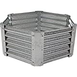 Sunnydaze Raised Garden Bed Kit, Galvanized Steel 40-Inch Hexagon, 16 Inches Deep Review