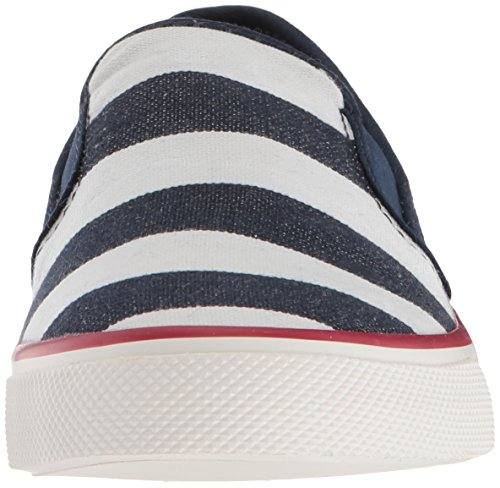 Seaside Sperry White Stripe Breton Women's Shoes Navy 5ASqATvU4