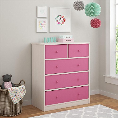 5-Bin Storage Chest in Enchanted Pine Finish by Cosco Office