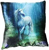 ACK NEW ANNE STOKES FANTASY, DRAGON, FAIRY ART, DECORATIVE FABRIC THROW PILLOW 15X15,YOUR CHOICE OF ART BY (FOREST UNICORN)