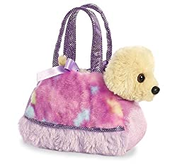 Aurora World Fancy Pals Pet Carrier, Tye Dye Purple