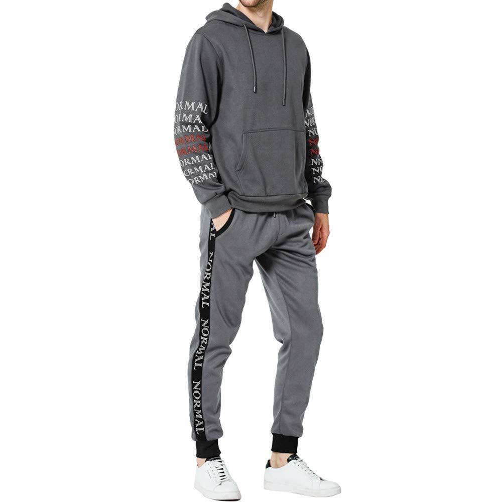 Sannysis Herren Jogging Anzug Trainingsanzug Sweatshirt Hose Männer Herbst Winter Buchstaben Top Hosen Sets Sportanzug