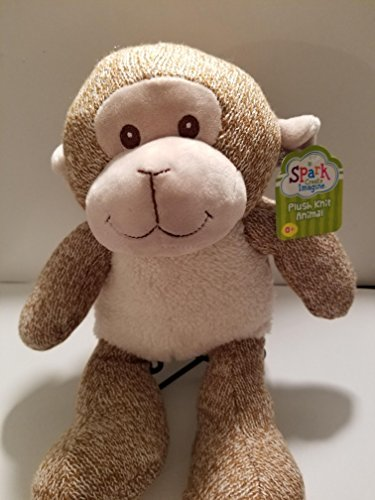 PLUSH KNIT STUFFED MONKEY