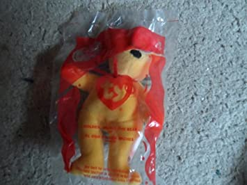d3739abd0d0 Image Unavailable. Image not available for. Color  Golden Arches the Gold  Teddy Bear McDonald s Ty Teenie Beanie 2004 - 04 ...