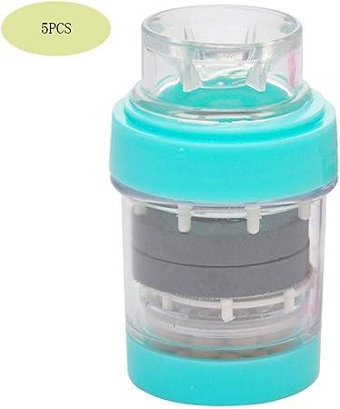Idebirs Magnetizado Filtro del Grifo de la Cocina del hogar Cuarto de baño Sanitario purificador de Agua del Grifo del baño purificador de Agua 5PCS: Amazon.es: Hogar