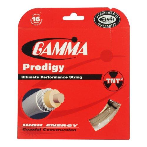 Gamma Natural Gut (Gamma Prodigy 16G Tennis String, Natural)