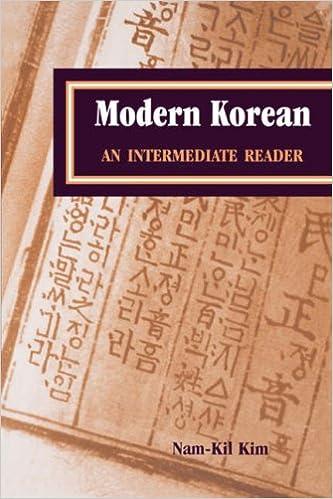 Modern Korean: An Intermediate Reader