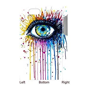 Customized Durable Case for Iphone 4,4S 3D, Rainbow Eye Phone Case - HL-R638429