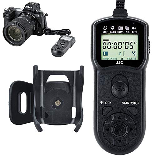 (JJC Timer Remote Control Shutter Release for Nikon Z6 Z7 D750 D610 D600 D7500 D7200 D7100 D7000 D5600 D5500 D5300 D5200 D5100 D5000 D3300 D3200 D3100 D90 Df Coolpix A P7800 P7700 P1000 as Nikon MC-DC2)