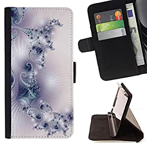 Pattern Wallpaper Art White Purple Light - Painting Art Smile Face Style Design PU Leather Flip Stand Case Cover FOR Samsung Galaxy S4 IV I9500 @ The Smurfs