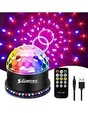 USB Disco Lights SOLMORE Party Stage Lights RGB Disco Ball Licht Knipperende Effecten Usb-kabel 7 Kleuren 6 Lichtmodi Geluid Geactiveerde Automatische Verlichting Strobe voor Kids Kerst Verjaardag Party Bar