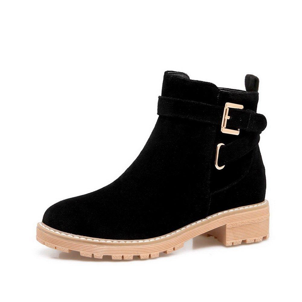 BalaMasa B078P6Y7Z1 Womens Fashion Slip-Resistant Platform Buckle Suede Boots ABL10235 B078P6Y7Z1 BalaMasa Platform bda964