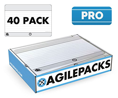 - Dry-Erase Planning Card Magnets by AgilePacks for Agile Planning Boards, Scrum, Kanban, Meetings, Productivity | AgilePacks Pro Kit - 40 4x6 Magnetic Planning Cards, Magnetic Cleaning Cloth and Marker