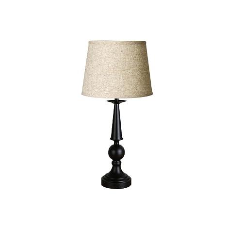LQQGXL Lámpara de Mesa rústica Americana del Estilo Rural ...
