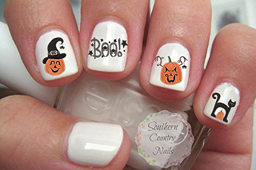 Halloween Boo Nail Art Decals]()