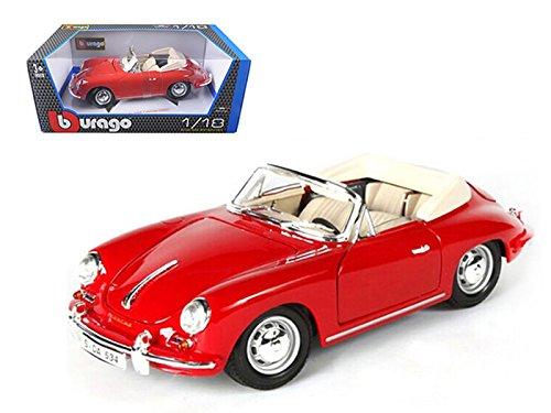 12025bu Bburago Gold - Porsche 356b Cabriolet Convertible (1961, 1:18, Blue) 12025 Diecast Car Model Auto Vehicle Die Cast Metal Iron Toy Transport ()