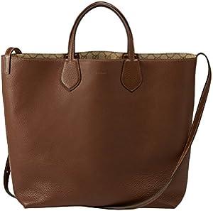 e91534f4bf811d Gucci Beige Brown Original GG Canvas Leather Ramble Reversible Tote Bag