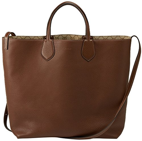 Gucci-Beige-Brown-Original-GG-Canvas-Leather-Ramble-Reversible-Tote-Bag