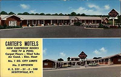 Carters Motel Scottsville, Kentucky Original Vintage Postcard