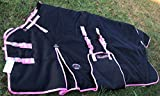 80'' 1200D Turnout Waterproof Horse Tough WINTER BLANKET HEAVY Black 569B