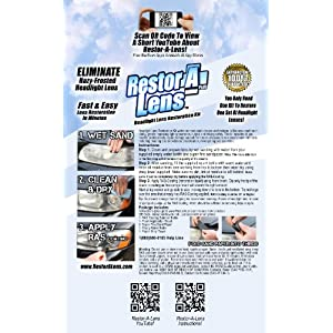 RestoraLens - The Headlight Restoration Kit Thats More Effective with Less Effort