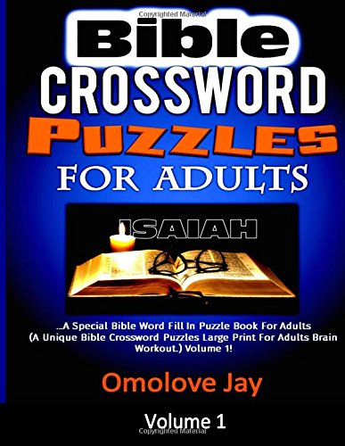 Bible Crossword Puzzles For Adults: A Special Bible Word Fil