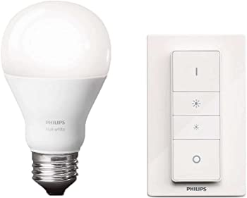 Philips Hue Wireless Dimmer Kit with 9.5W White LED Bulb