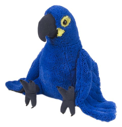 Wild Republic Hyacinth Macaw Plush, Stuffed Animal, Plush Toy, Gifts for Kids, Cuddlekins 12 Inches