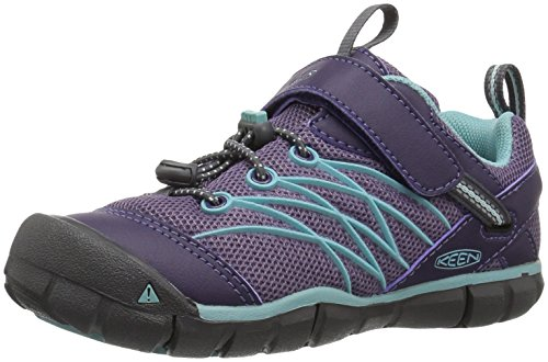 Price comparison product image Keen Kids' Chandler Cnx Hiking Shoe, Montana Grape/Aqua Haze, 2 Youth US Big Kid