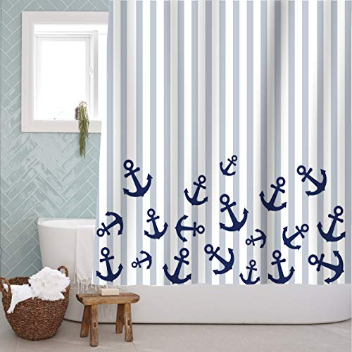 A Stylish Anchor Pattern Shower Curtain!