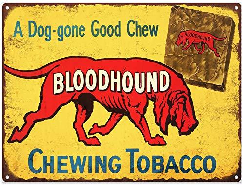 Yilooom Bloodhound Chewing Tobacco Vintage Look Advertising Metal Sign 12