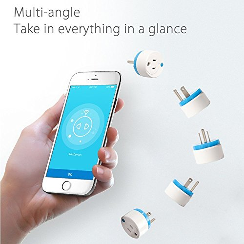 HAOZEE Z Wave Plus Mini Smart Power Plug Home Automation Zwave Outlet,Z Wave Range Extender,Energy Monitoring,Works with Wink,SmartThings & more by HAOZEE (Image #3)