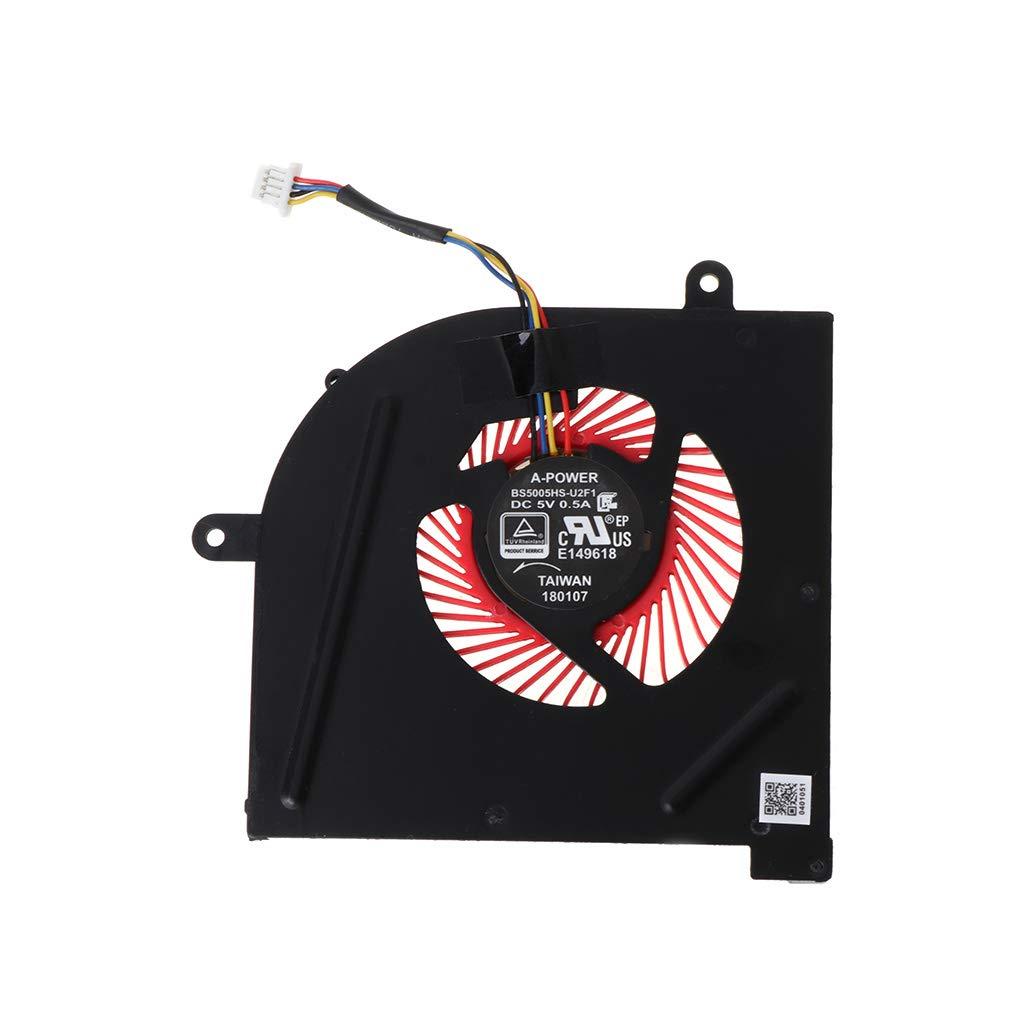 yuaierchen Ventilateur de Refroidissement pour Ordinateur Portable GS63 GS73 GS73VR MS-17B1 Stealth Pro C-P-U BS5005HS-U2F1 G-P-U BS5005HS-U2L1