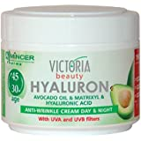 Hyaluron Avocado Oil & Matrixyl Anti-Wrinkle Cream for Day & Night With UV Filters (Ages 30+)- 50ml