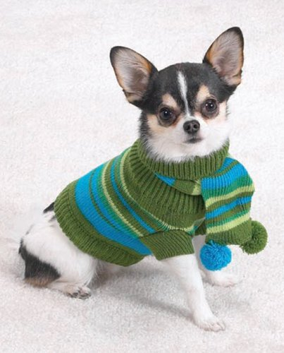 X-LARGE – Chilly Day Dog Sweater w/ Matching Scarf, My Pet Supplies