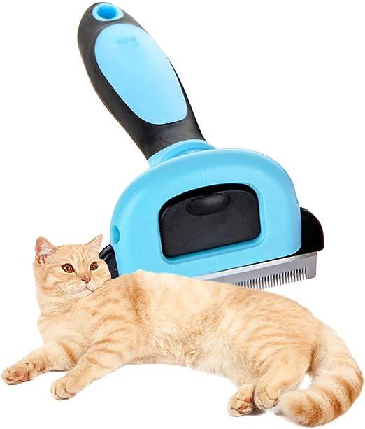 GODGETS Cepillo para Mascotas, Perros y Gatos Cepillo de Limpieza de Mascotas para Limpiar Mascotas Medianas y Grandes, Reduce Eficazmente Caida de Cabello,Azul,S: Amazon.es: Productos para mascotas