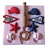 Yunko Baseball Fondant Mold Silicone Mold Chocolate Pudding Cake Decoration Tools