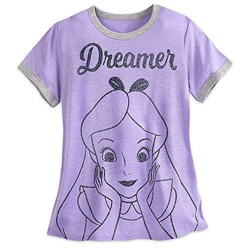 Disney Alice In Wonderland Statement T-Shirt - Women Size Ladies XL (Ladies Ringer T-shirt)