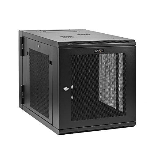 - StarTech.com Wall Mount Server Rack Cabinet - 12U Rack - 32in Deep - Hinged Enclosure - Wall Mount Rack - Server Cabinet