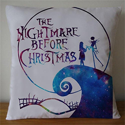 Damuyas nightmare before christmas galaxy jack&sally pillow case size (nightmare before christmas) ()