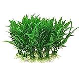 Uxcell a09101600ux0107 Aqua Landscape 10 Piece Green Plants Aquarium Tank Plastic Grass Decoration