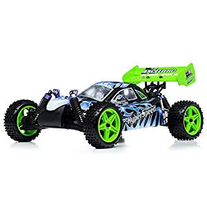 1/10 2.4Ghz Exceed RC Hyper Speed Beginner Version .16 Engine Nitro Powered Off Road Buggy Fire Black ***STARTER KIT REQUIRED***