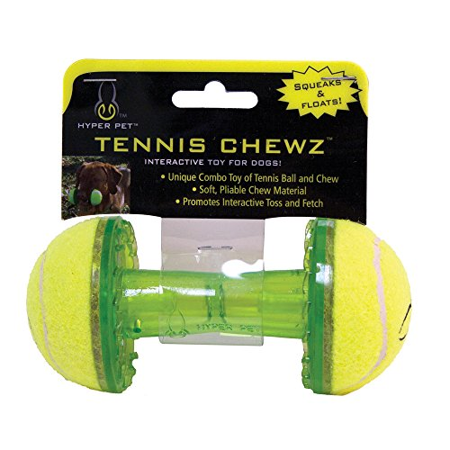 Hyper Pet Tennis Chewz Barbell Interactive Dog Toy
