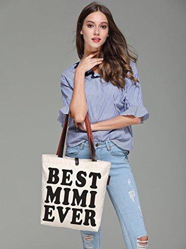 Handbags Print So'each Best amp; Canvas Women's Tote Mimi Bag Ever Beach wIvr5