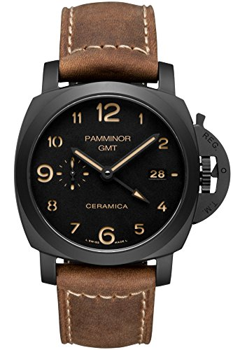 Panerai Replica Watches - Luxury Italy 1950 Design High End 3 Days GMT Automatic P.9001 Watch 00441 Sapphire Crystal Black Ceramic