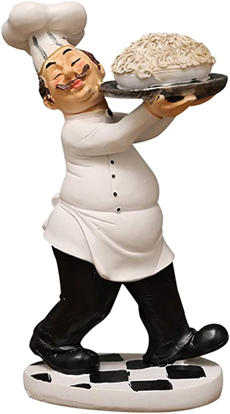 Amazon Com Besportble French Chef Statue Kitchen Decor Figurine Cook Model Resin Decorative Ornaments For Bakery Restaurant Bistro Cake Shop Decoration Gift Favor Ramen Home