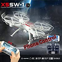 Hanbaili X5SW-1 FPV Drone With Camera for Beginners,Speed Switch Cool Led Light 3D Flips Drone with Headless Mode for kids